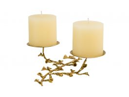 Foliage Candle Holder Tray Duo