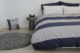 George Duvet, Pillowcase & Fitted Sheet Set-Single Size - view2
