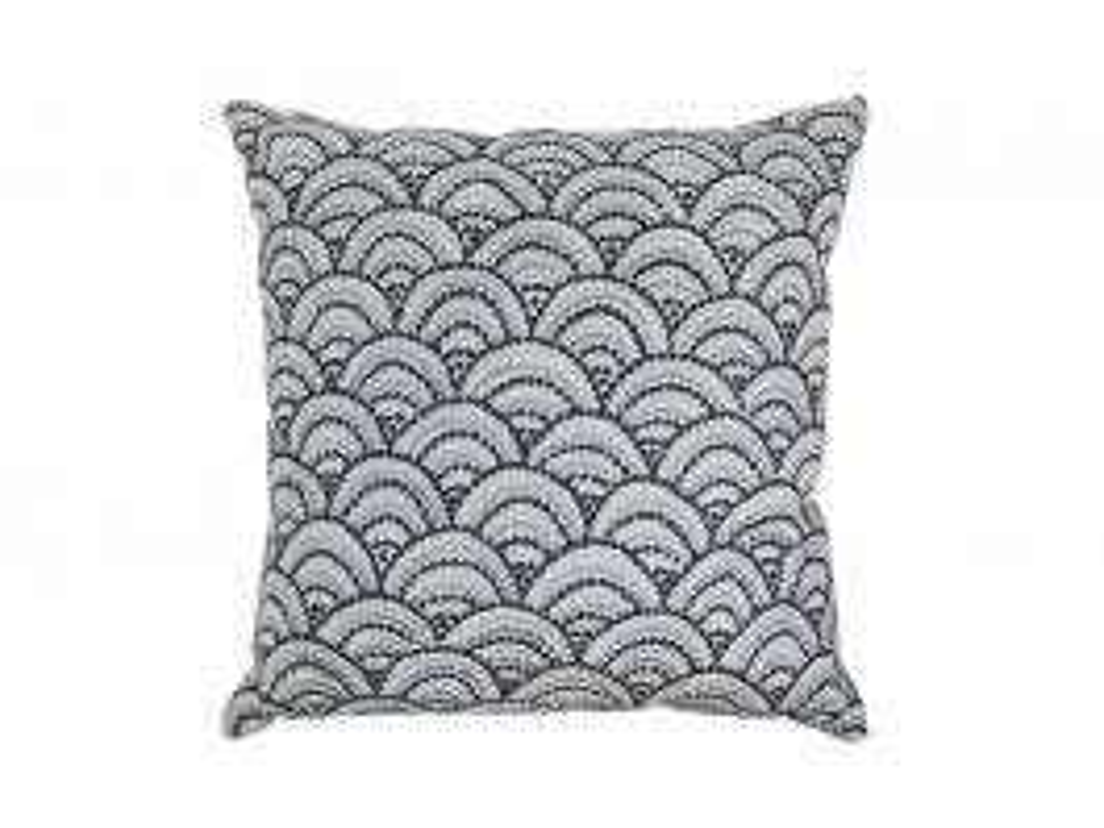 Folk Wave Cushion Cover