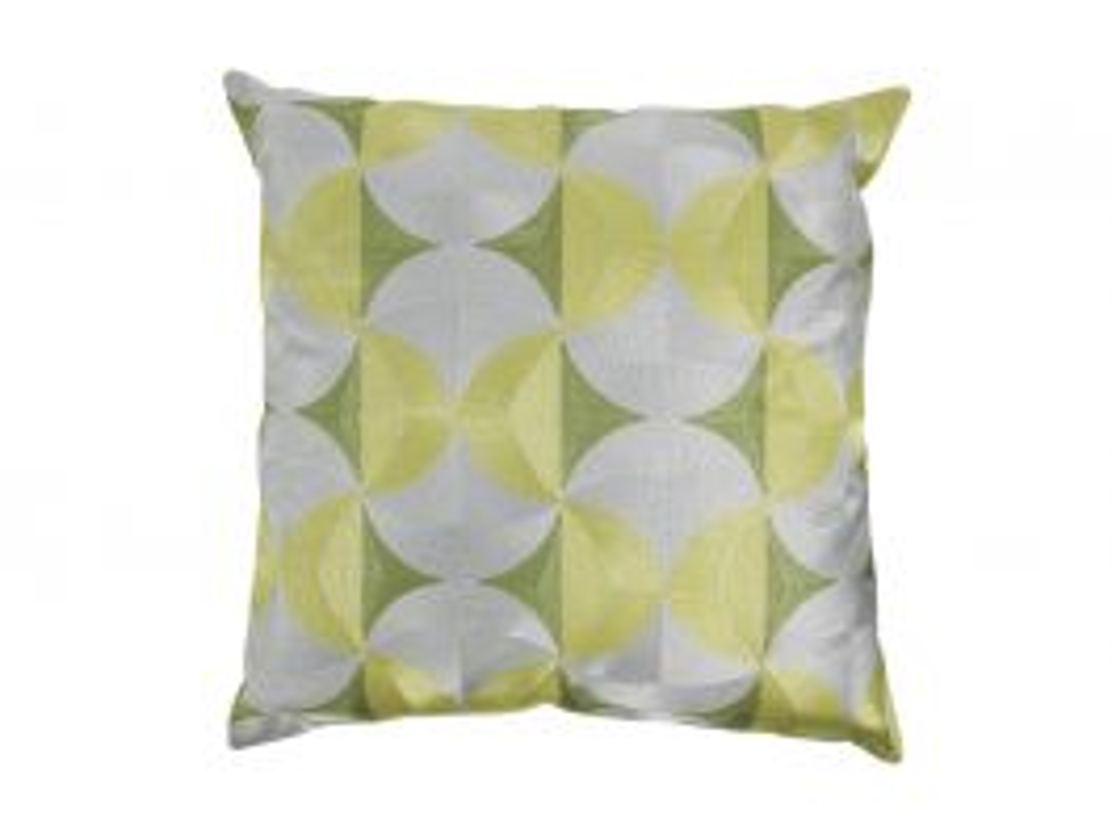 Sleek Curve Cushion Cover Lime