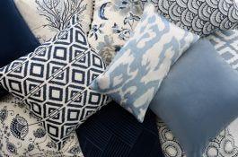 Light Blue Velvet Cushion Cover  - view2