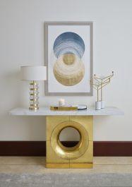 Deepa Crystal Table Lamp -Gold - view2