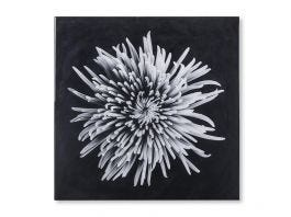 Black & White Flower, Epoxy A Wall Art