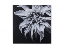 Black & White Flower, Epoxy F Wall Art