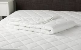 Cotton Mattress Protector Dbl