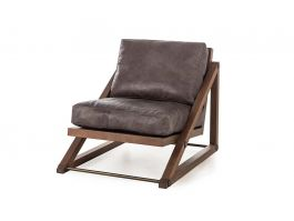 Teddy Chair - Black Leather - view2