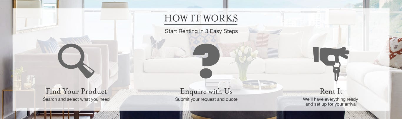 Steps to Rent Furniture in Hong Kong
